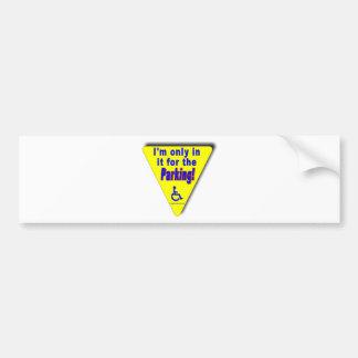 parking bumper sticker