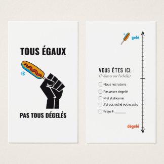 Parking/carpark badly parké car Quebec humour Business Card