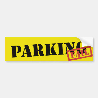 Parking Fail Bumper Sticker