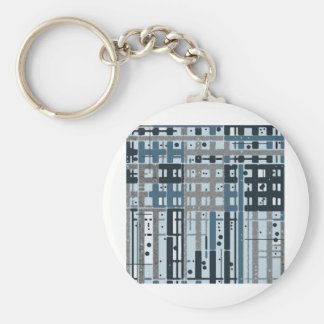 Parking Garage Hatched Lines Light Blues Abstract Key Chains