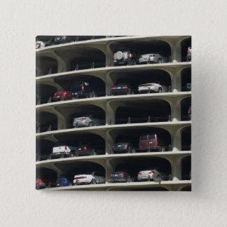 Parking garage Marina City Chicago Illinois USA 15 Cm Square Badge