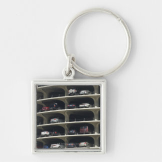 Parking garage Marina City Chicago Illinois USA Silver-Colored Square Key Ring