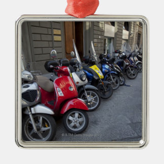 Parking is extremelly hard to find, Scooters are Christmas Ornament