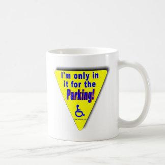 parking basic white mug