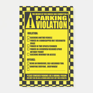 Parking Ticket Yellow Post-it Notes