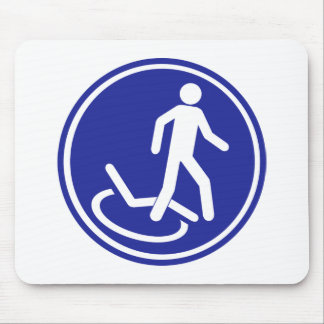 PARKING ZONE FOR DISABLED MOUSE PADS