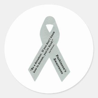 Parkinson s Awareness Ribbon Round Sticker