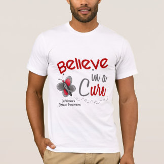 Parkinson's Disease Butterfly 2 Believe In A Cure T-Shirt