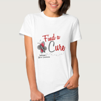 Parkinson's Disease Butterfly 2 Find A Cure T Shirts