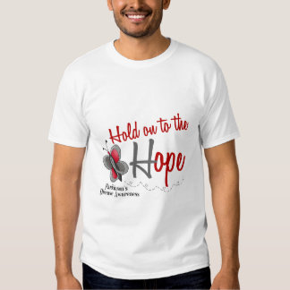 Parkinson's Disease Butterfly 2 Hold On To Hope Tshirt
