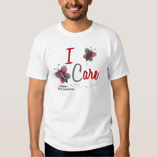 Parkinson's Disease Butterfly 2 I Care Tee Shirts