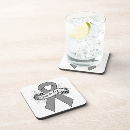 Parkinson's Disease Find A Cure Ribbon Coaster