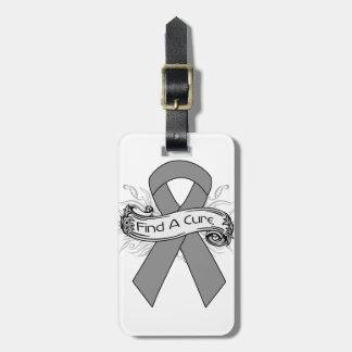 Parkinson's Disease Find A Cure Ribbon Travel Bag Tag