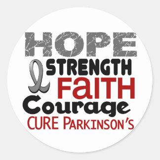 Parkinson's Disease HOPE 3 Round Stickers