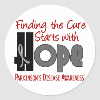 Parkinson's Disease HOPE 4 Round Stickers