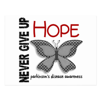 Parkinson s Disease Never Give Up Hope Butterfly 4 Post Card