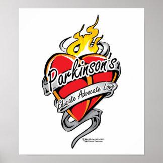 Parkinson s Tattoo Heart Posters