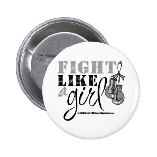 Parkinson's Disease Awareness Fight Like a Girl 6 Cm Round Badge