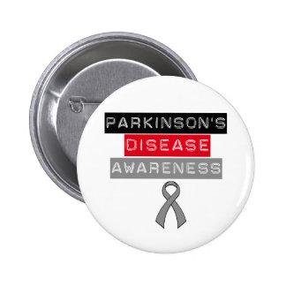 Parkinson's Disease Awareness Ribbon 6 Cm Round Badge