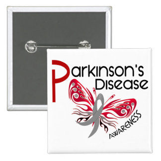 Parkinsons Disease BUTTERFLY 3.1 15 Cm Square Badge