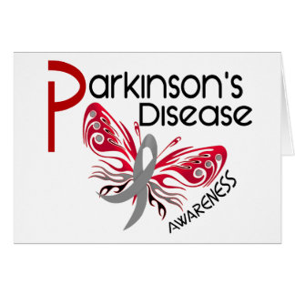 Parkinsons Disease BUTTERFLY 3.1 Greeting Card