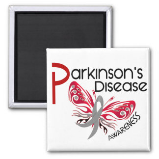 Parkinsons Disease BUTTERFLY 3.1 Square Magnet