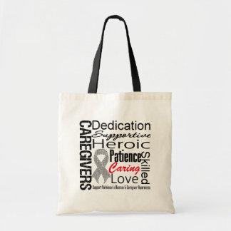 Parkinsons Disease Caregivers Collage Tote Bags