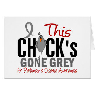 Parkinsons Disease Chick Gone Grey Card
