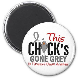 Parkinsons Disease Chick Gone Grey Fridge Magnets