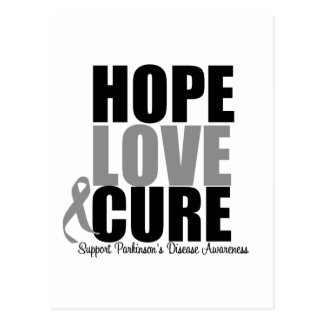 Parkinson's Disease Hope Love Cure Postcard