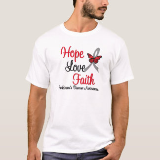 Parkinson's Disease HOPE LOVE FAITH Ribbon T-Shirt