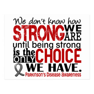 Parkinson's Disease How Strong We Are Postcard
