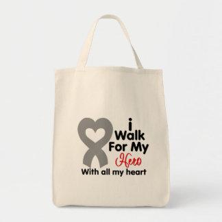 Parkinson's Disease I Walk For My Hero Grocery Tote Bag