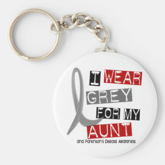 Parkinsons Disease I WEAR GREY FOR MY AUNT 37 Keychains