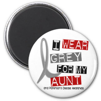 Parkinsons Disease I WEAR GREY FOR MY AUNT 37 Refrigerator Magnets