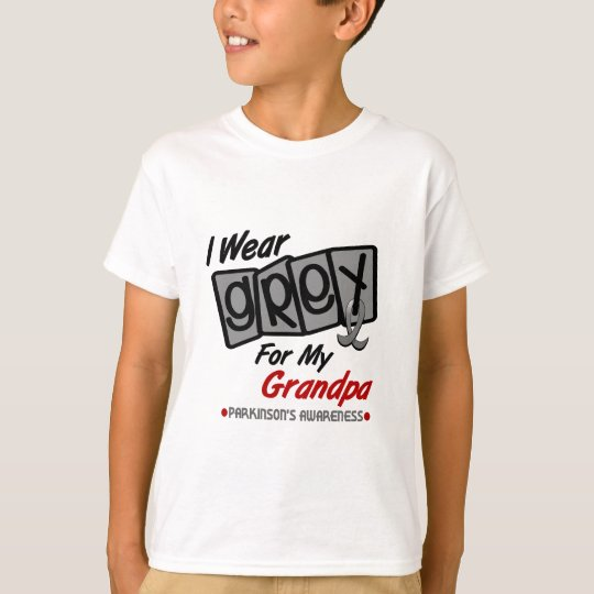 Parkinsons Disease I WEAR GREY For My Grandpa 8 T-Shirt