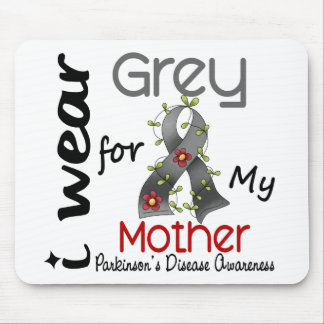 Parkinsons Disease I Wear Grey For My Mother 43 Mouse Mat