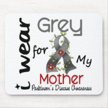 Parkinsons Disease I Wear Grey For My Mother 43 Mousemat