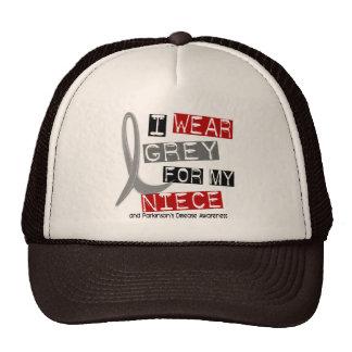 Parkinsons Disease I WEAR GREY FOR MY NIECE 37 Mesh Hats