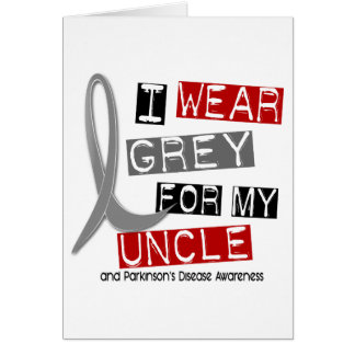 Parkinsons Disease I WEAR GREY FOR MY UNCLE 37 Cards