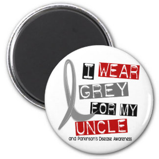 Parkinsons Disease I WEAR GREY FOR MY UNCLE 37 Magnets