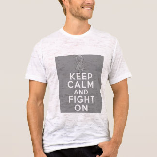 Parkinsons Disease Keep Calm and Fight On T-Shirt