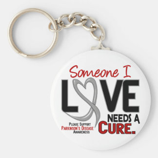 Parkinsons Disease NEEDS A CURE 2 Basic Round Button Key Ring