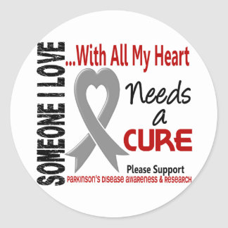 Parkinsons Disease Needs A Cure 3 Round Sticker