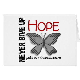 Parkinson's Disease Never Give Up Hope Butterfly 4 Greeting Cards