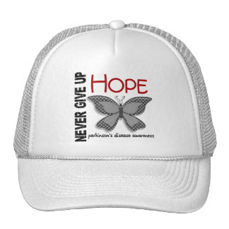 Parkinson's Disease Never Give Up Hope Butterfly 4 Mesh Hats