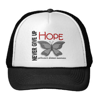Parkinson's Disease Never Give Up Hope Butterfly 4 Trucker Hats