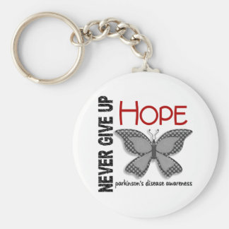 Parkinson's Disease Never Give Up Hope Butterfly 4 Key Chain