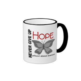 Parkinson's Disease Never Give Up Hope Butterfly 4 Mugs