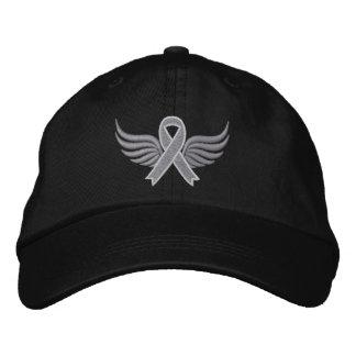 Parkinsons Disease Ribbon Wings Baseball Cap